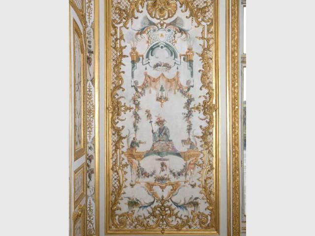 Panneau restauré - Décor Grande Singerie Chantilly
