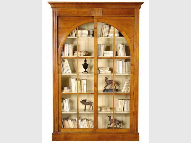 Biblothèque en merisier - Bibliothèque