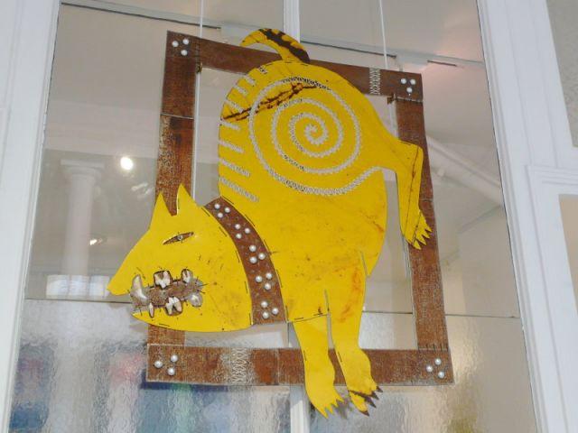 Le chien jaune - Catherine Ursin - artiste