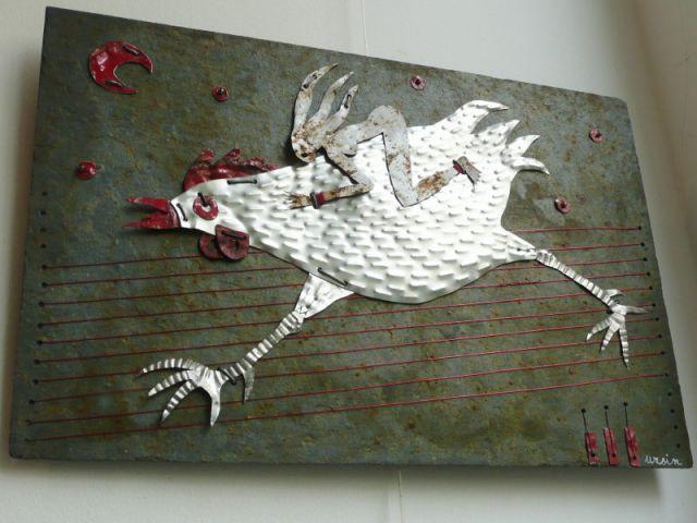La chevaucheuse de poule - Catherine Ursin - artiste