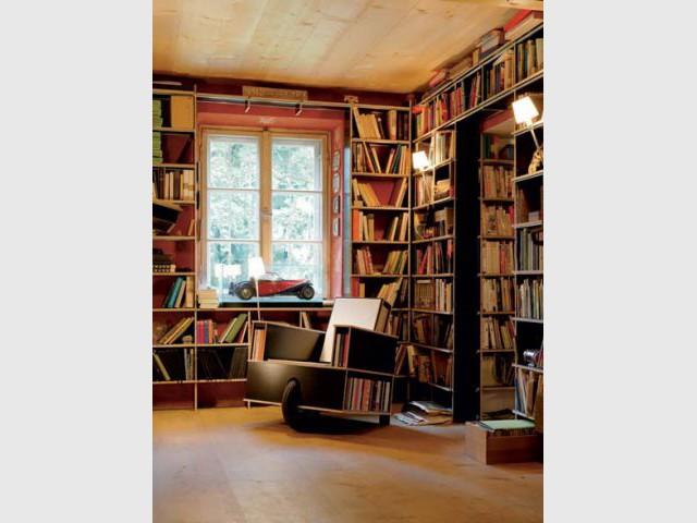 La chaise bibliothèque roulante - Bibliothèque