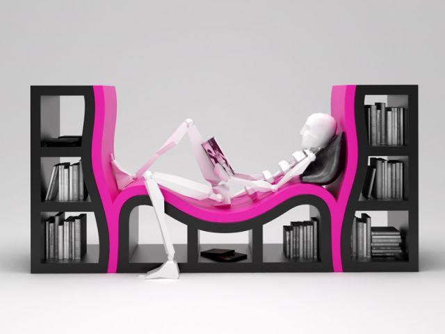Fauteuil bibliothèque - Bibliothèque