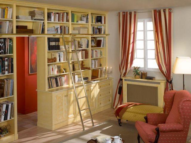 biblioth que le classique chic. Black Bedroom Furniture Sets. Home Design Ideas
