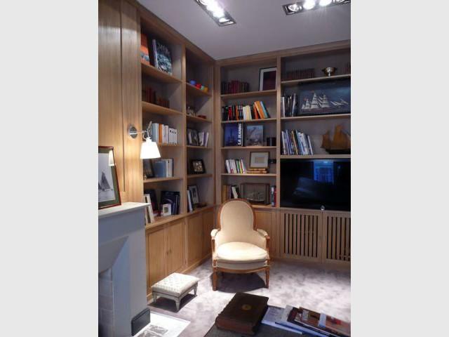 Angle - Meubles et boiseries reportage bibliothèque
