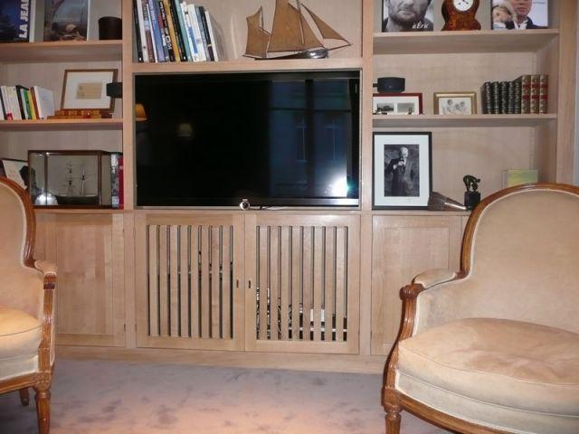 L'écran plat - Meubles et boiseries reportage bibliothèque