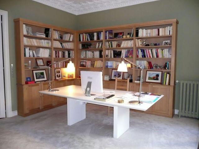 Bibliothèque côté chambre - Meubles et boiseries reportage bibliothèque
