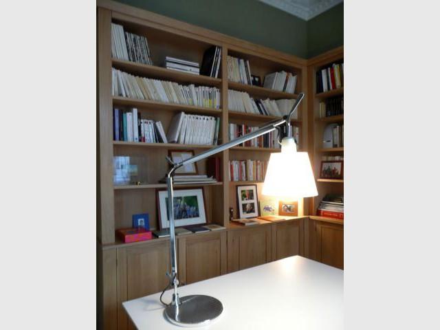 Ambiance de salle de lecture - Meubles et boiseries reportage bibliothèque