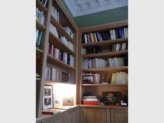 Vue de côté - Meubles et boiseries reportage bibliothèque