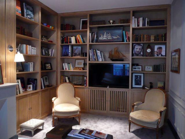 Meubles et boiseries reportage bibliothèque