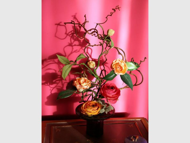 Bouquet multicolore - Reportage salon - Linda Flament - relooking d'intérieur