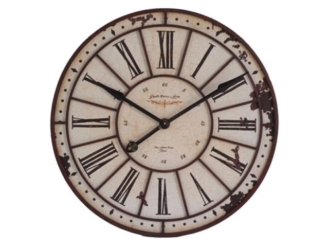 Canapé salon horloge