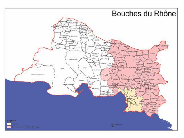 carte bouches du rhône AGF