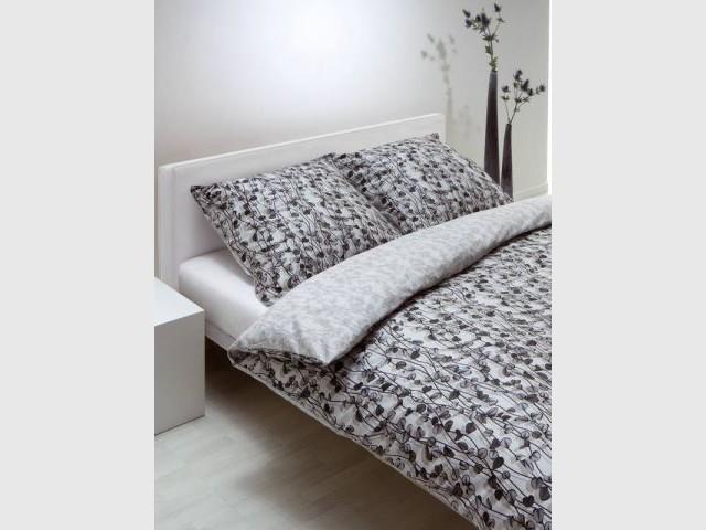 En noir et blanc - Linge de maison parrure de lit