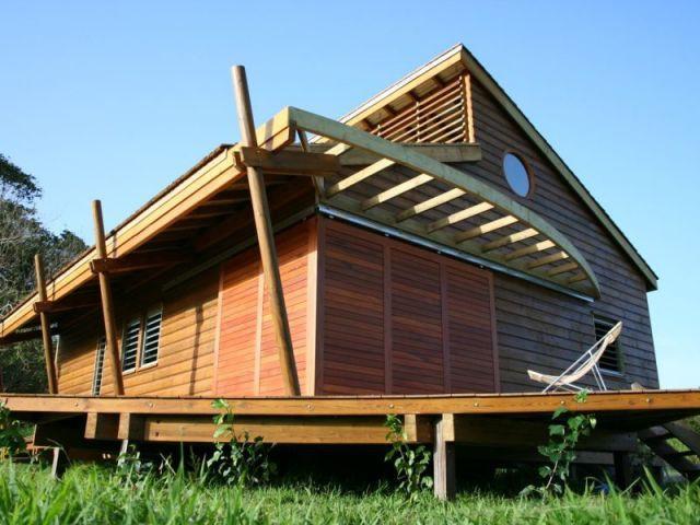 Panneaux fermés - Maison bois Guadeloupe - Laurent Darviot