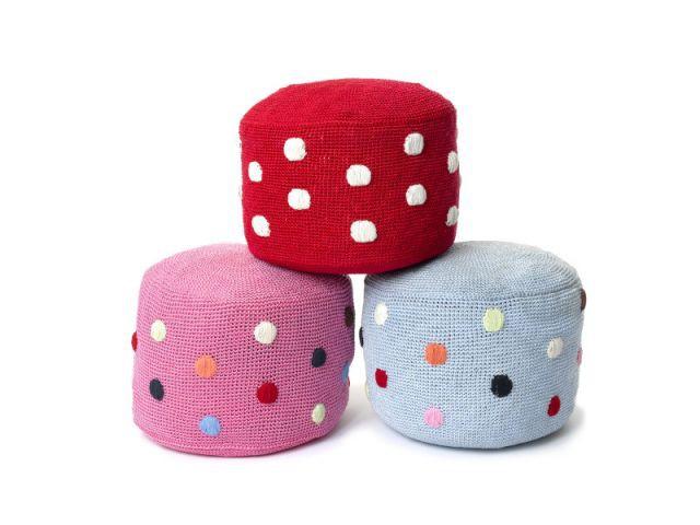 A pois - Anne-Claire Petit accessoires - pouf