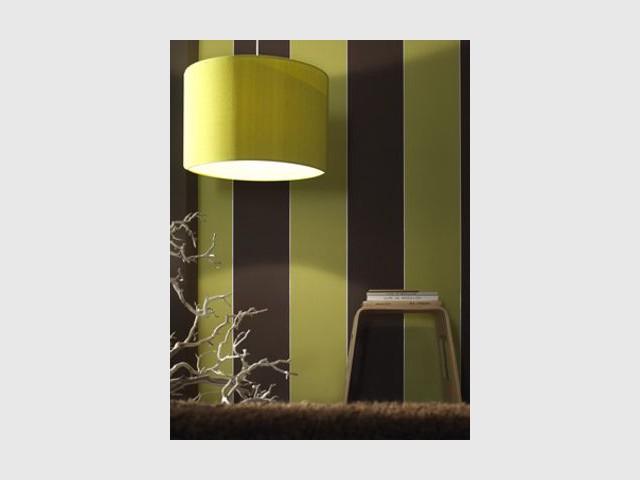 Vert et chocolat - Grandeco - papiers peints