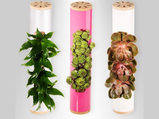 En tubes courts - Flowerbox décoration plante mur