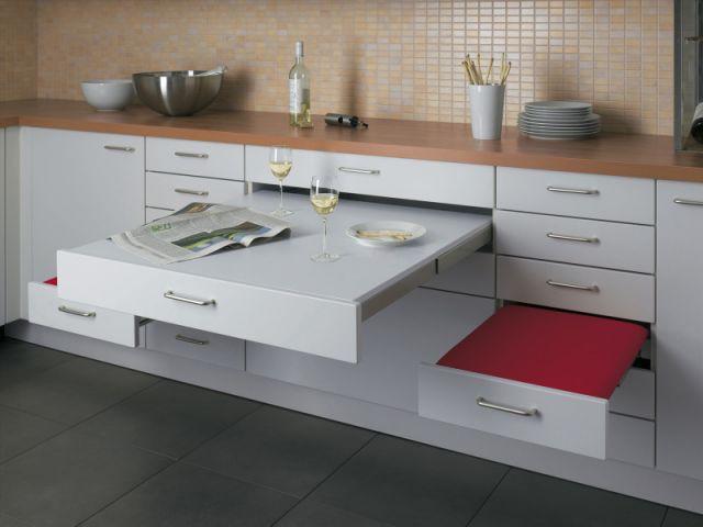 Alno - siège et table escamotable