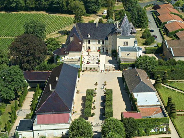 Vue aérienne - Château de Pizay