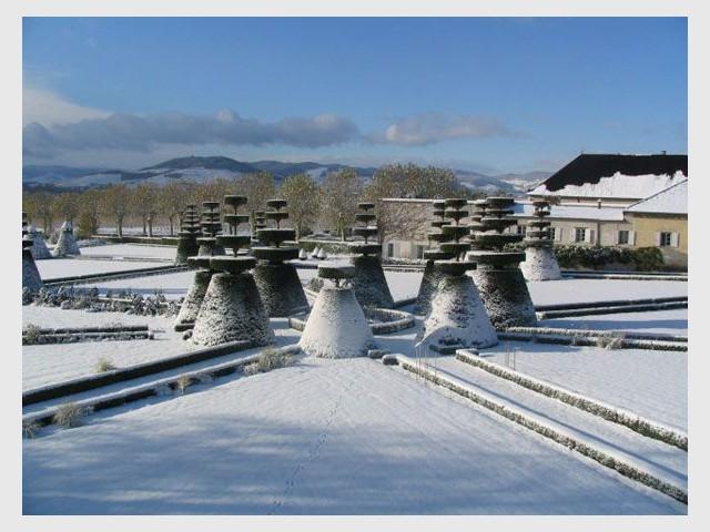 Sous la neige - Château de Pizay