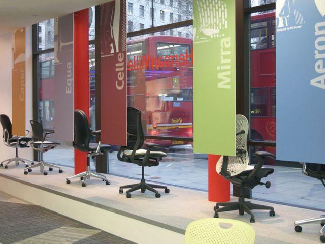 Vitrine - Showroom Herman Miller à Londres