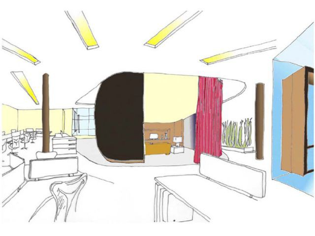 Esquisses - Showroom Herman Miller à Londres