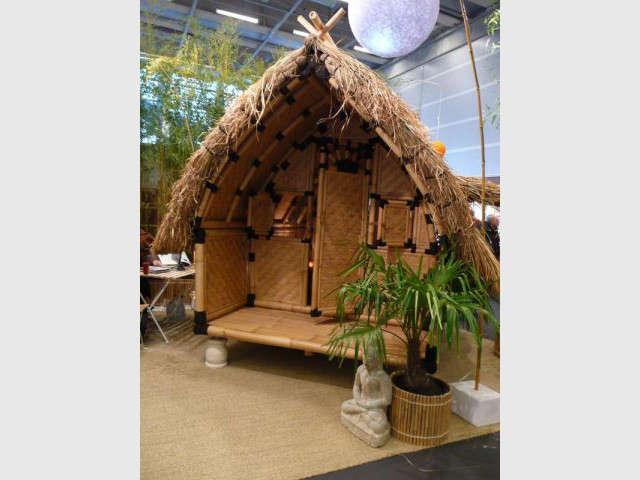 maisons - cabanes en bambou - salon écobat 2008