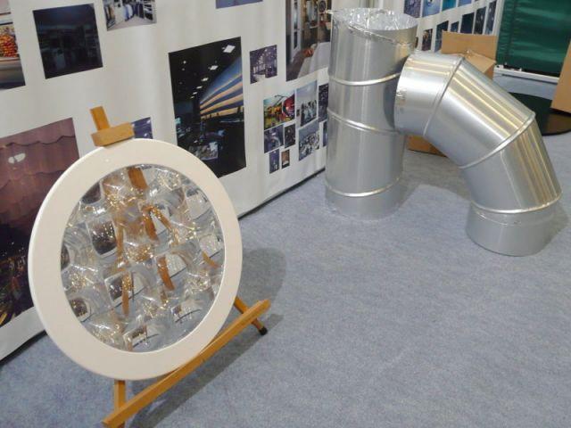tunel de lumière - salon écobat 2008