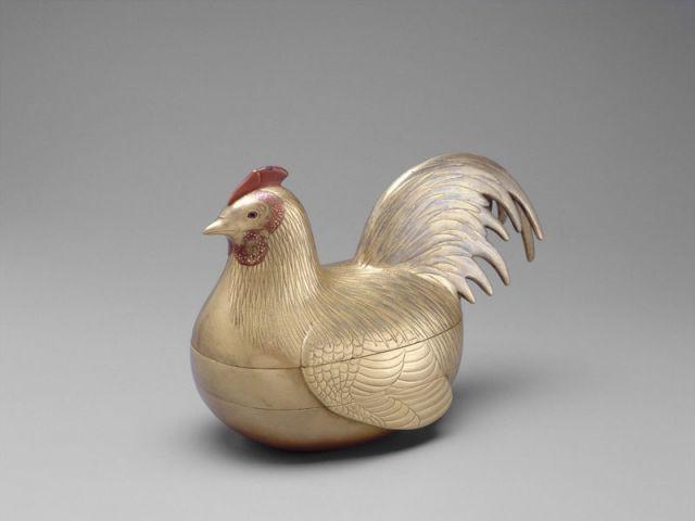 Boîte en forme de coq
