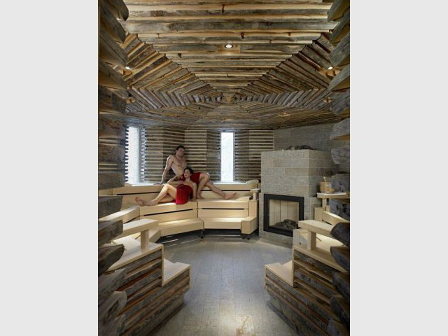 Sauna - Hôtel 5 étoiles Tschuggen Bergoase