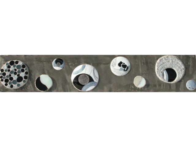 Frise décorative émail et mosaïque - Muriel Carcagno - émail