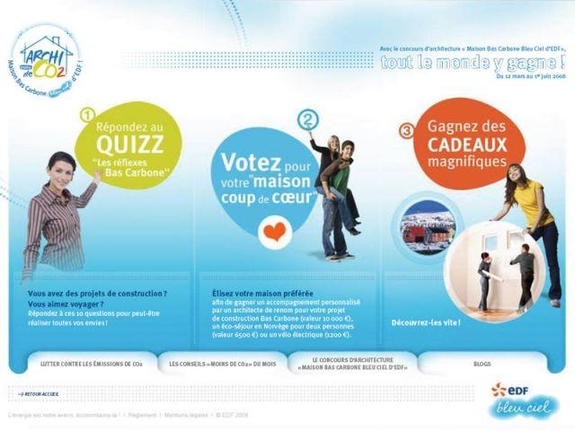 Page d'accueil du site www.archi-co2.com