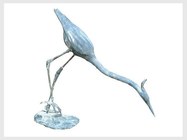 Statue héron