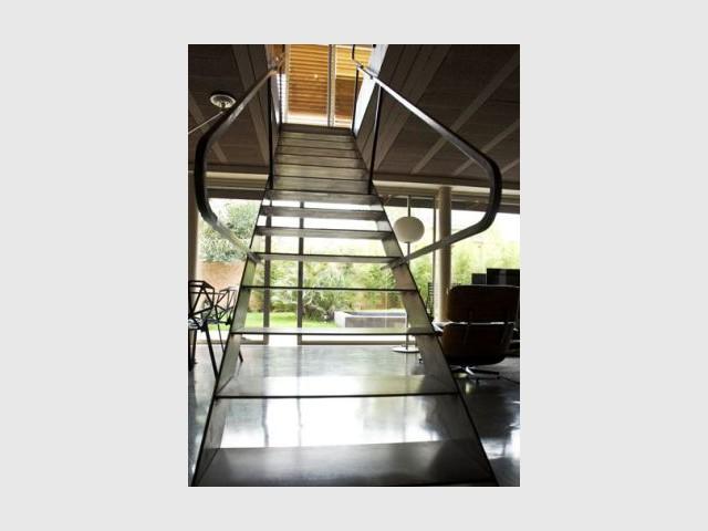 L'escalier en acier - maison Maurice Padovani