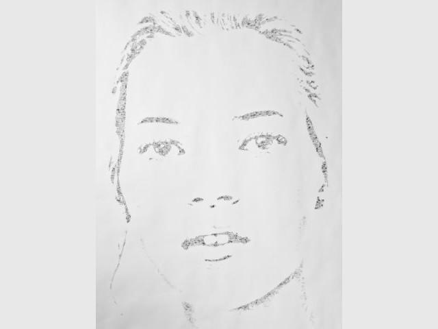 Portrait de Kate de Moss par Roman Moriceau - Arty Dandy - Le Bon Marché