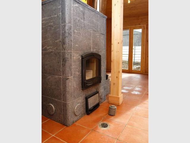 Chauffage poêle - Maison écologique en bois