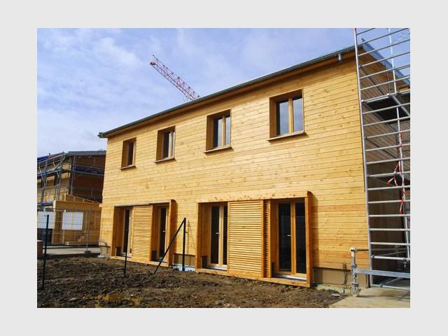 Chantier des deux maisons - Maison écologique en bois