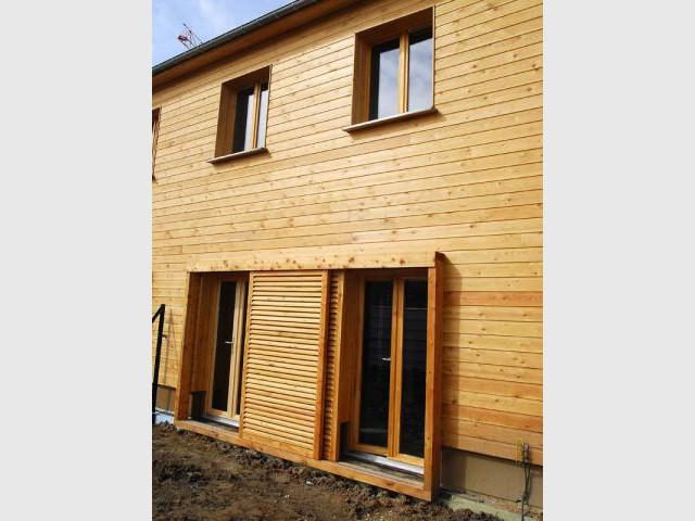 Entrée de la maison - Maison écologique en bois