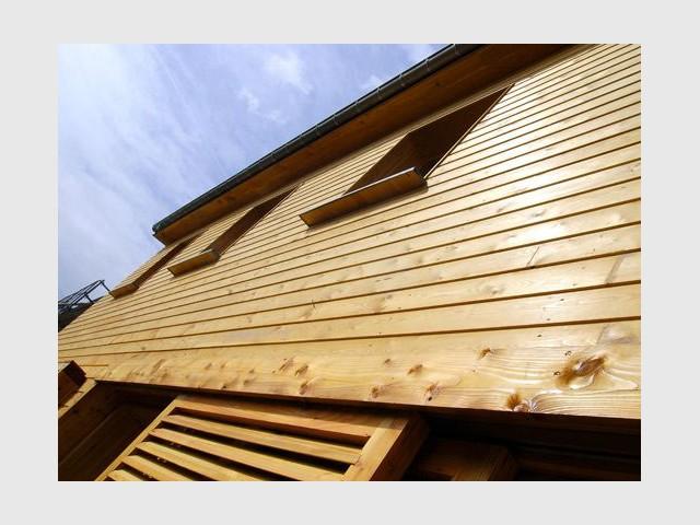 Détail de l'extérieur - Maison écologique en bois