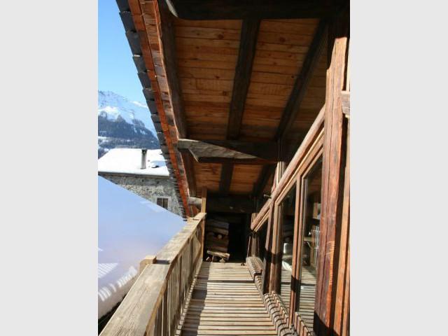 Vue depuis le balcon - Chalet -  montagne - Créa Design