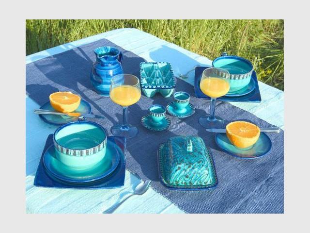 Vaisselle bleue - Carrelage et céramique Salernes