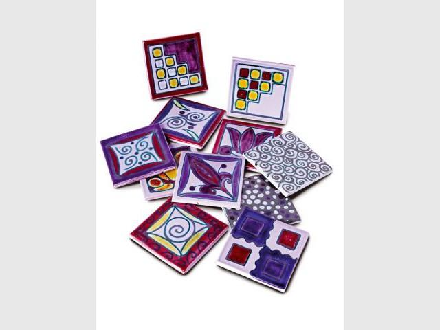 Carrelage multi décor version violet - Carrelage et céramique Salernes