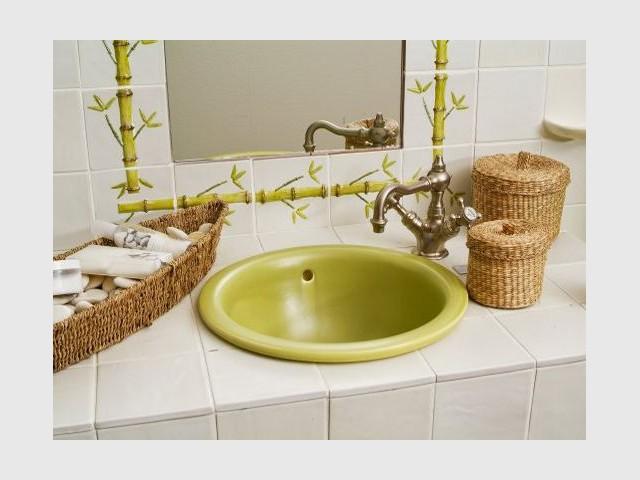 Salle de bain bambou - Carrelage et céramique Salernes