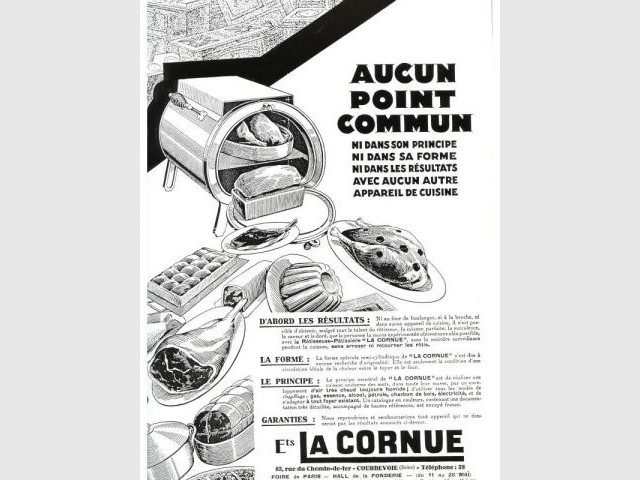 Affiche publicitaire 1929 - La Cornue - Saga - cuisines - cuisinistes