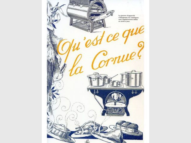 Affiche publicitaire 1930 - La Cornue - Saga - cuisines - cuisinistes