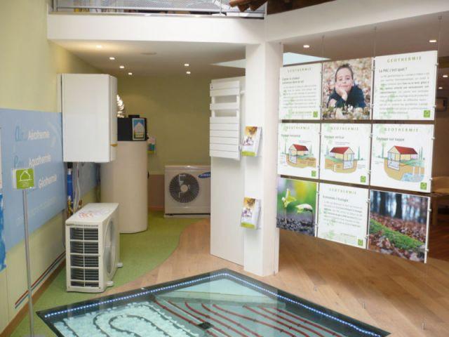 Espace aérothermie - energies renouvelables show-room environnement