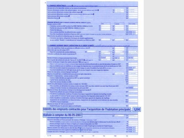 fiscalité déclaration revenus intérêts d'emprunt