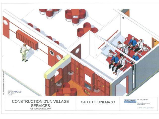 maison de retraite Arcady cinéma 3D