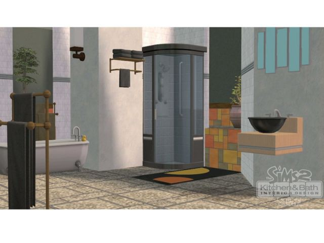Salle de bain avec douche et vasque - Les Sims 2