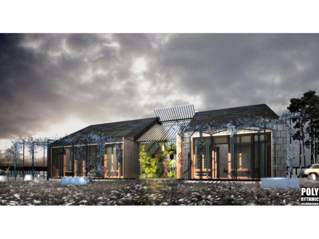 Maison bas carbone Polyrytmic architecture